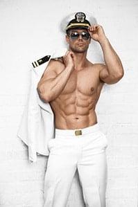 mannelijke stripper kapitein